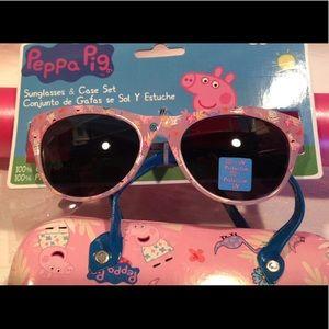 Hp Peppa Pig Sunglasses Vinyl Case Nwt